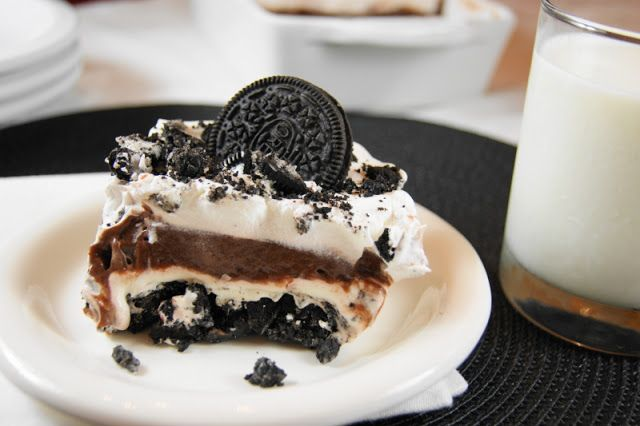 Classic Oreo Icebox Dessert {The Kitchen is My Playground}