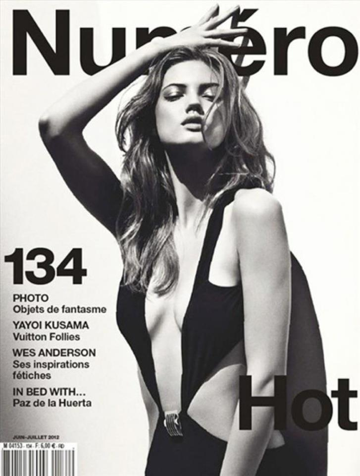 Stunning cover of Lindsey Wixson wearing Gucci on the June/July 2012 issue of Numéro #134.