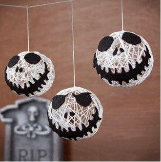 Halloween versiering: Feestelijke Jack Skellington hoofdjes
