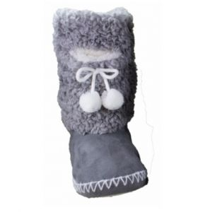 Navajo Grey Indoor/Outdoor Fuzzy Boot Slipper With Phone Pocket Review #ChristmasGiftGuide
