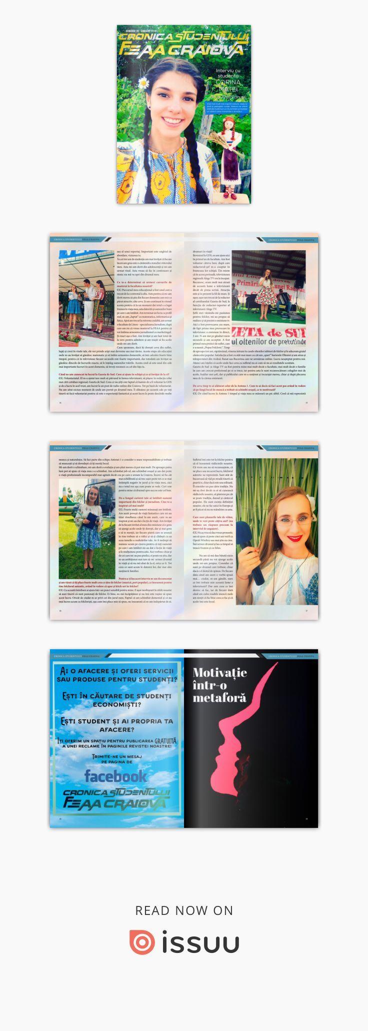 Cronica Studentului FEAA Craiova nr. 28  Coordonator: Lect. dr. Silvia Puiu Grafica revista: Laurentiu Badea, scriitor si graphic designer