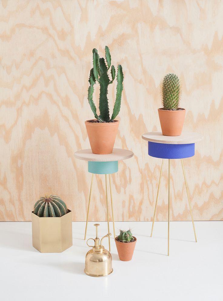 Richtig schicke Tische für Pflanzen selber bauen l DIY Deko aus Holz l diy retro plant stand