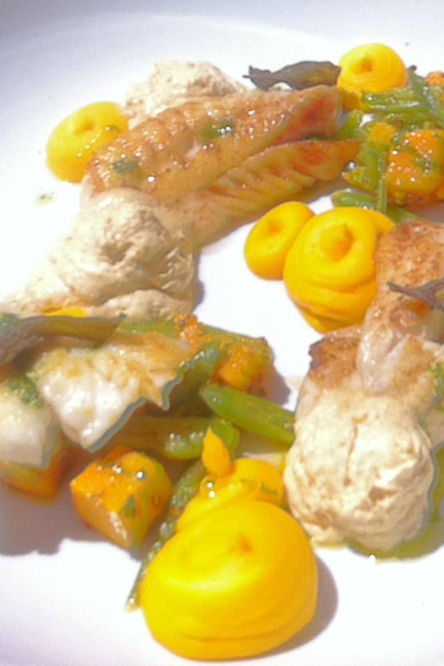 Fresh fish dish at the Governors Bay Hotel