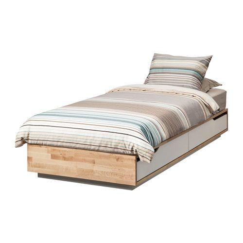 MANDAL Struttura letto con contenitore IKEA È in legno massiccio, un materiale naturale caldo e resistente.