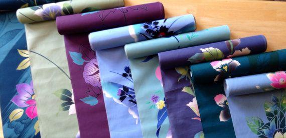 Vintage Japanese yukata cotton bundle 8 pieces in by kimonomomo, $32.00
