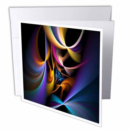 3dRose Multi Color Fractal Greeting Cards 6 X Inches Set Of 12