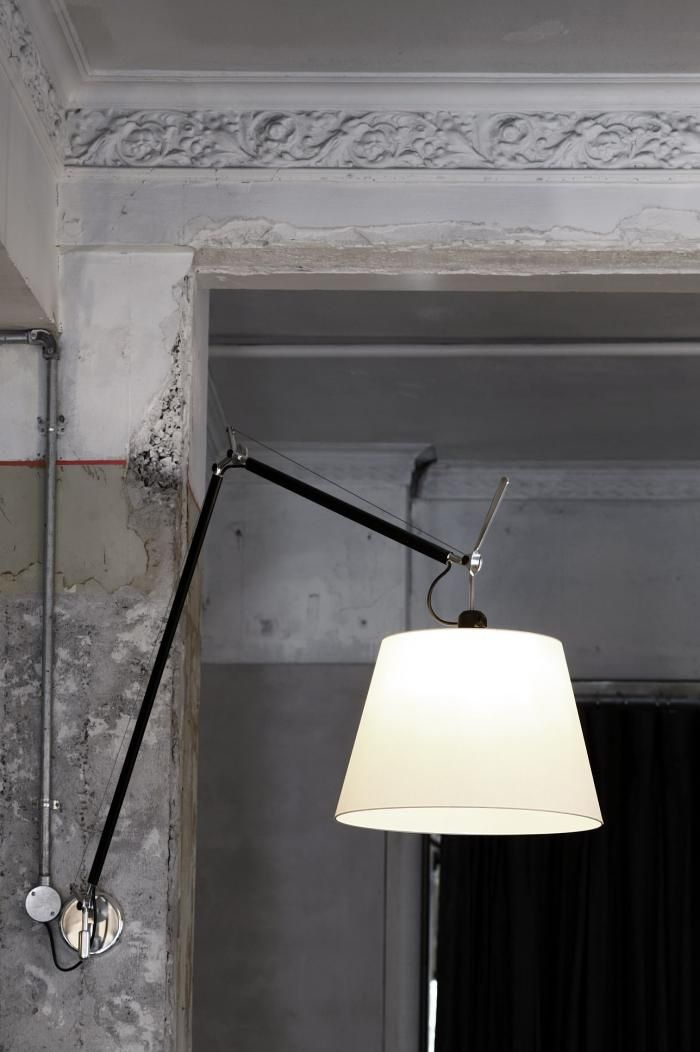 Tolomeo Mega Wall Lights with parchment shades from Artemide.