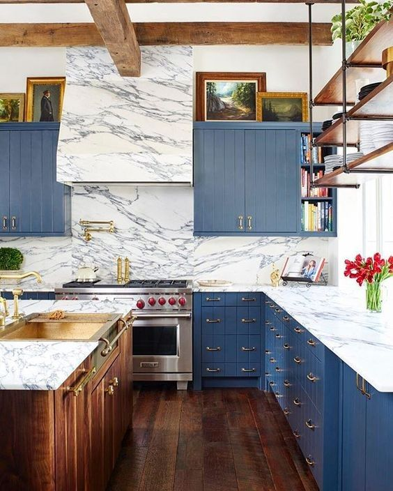 17 best images about dark blue kitchen on pinterest navy for Kitchen cabinets 65th street brooklyn