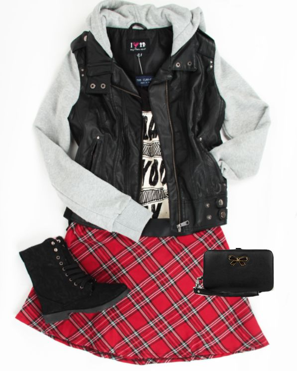 Plaid outfit  -  Deb Shops #ootd