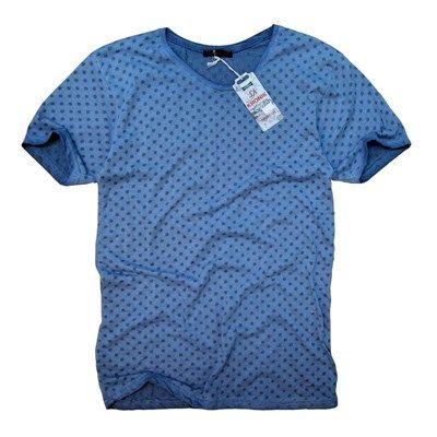 Erkek yuvarlak yaka slim fit mavi tişört modelleri en ucuz fiyatlarıyla kapıda ödeme ve taksit ile Outlet Çarşım'da.