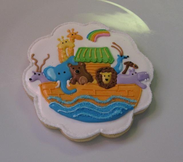 noah 39 s ark baby shower cookie cookies pinterest