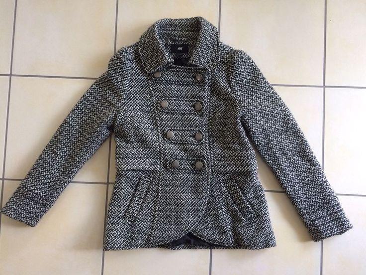 ** Damen Wollmantel / Jacke Gr.40/42 schwarz-weiss von H&M **