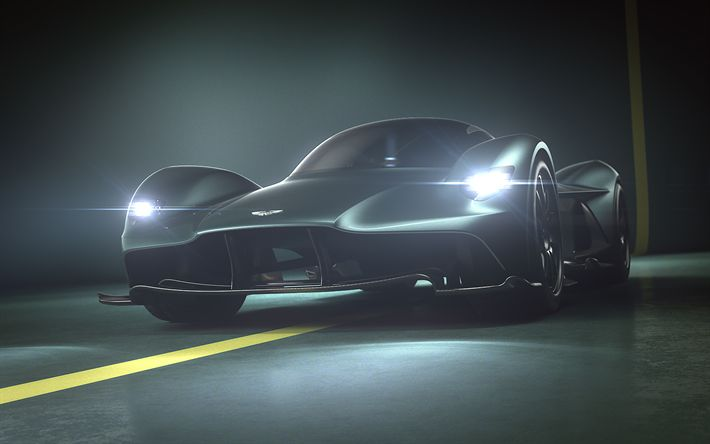 Download wallpapers Aston Martin Valkyrie, 4k, 2018 cars, hypercars, Aston Martin