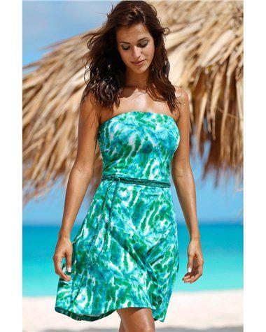 Robe de plage grande taille femme ELLOS http://www.castaluna.fr/categories/beachwear/725.aspx