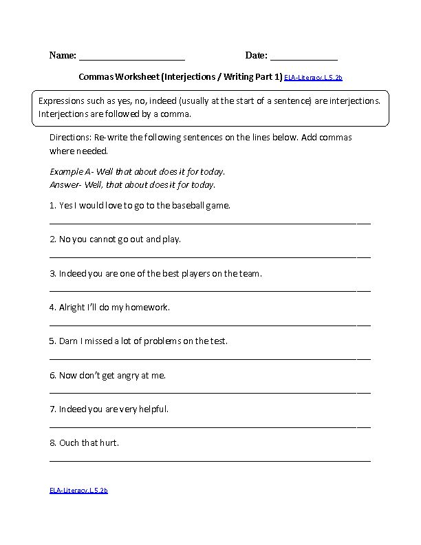 Worksheet Interjections Worksheet interjections worksheets more information worksheets