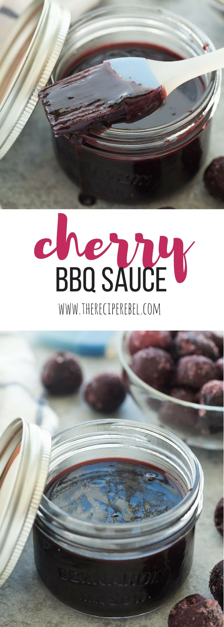 This Easy Homemade Cherry BBQ Sauce is made with fresh or frozen cherries and goes perfectly with chicken or pork. Make a big batch and keep it in the fridge or freezer all summer long! Includes how to recipe video   barbecue sauce   homemade sauce   grilling   grilled