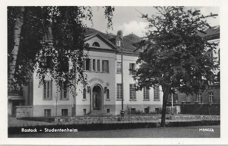 DDR, Rostock, 1955, Studentenwohnheim der Universität, Leibnizplatz