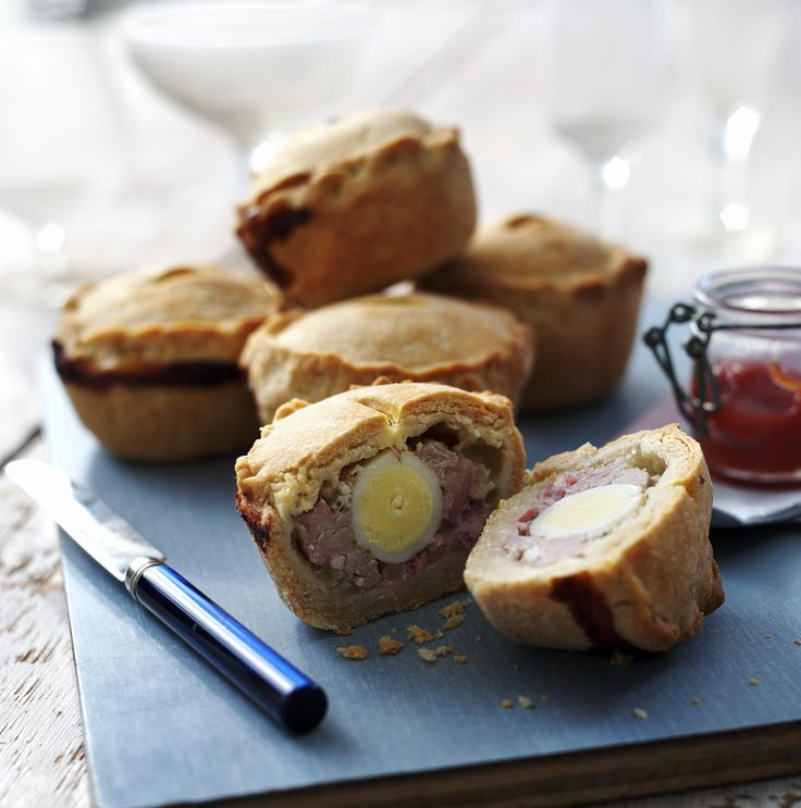 Little pork pies made with quails' eggs – perfect in a ploughman's