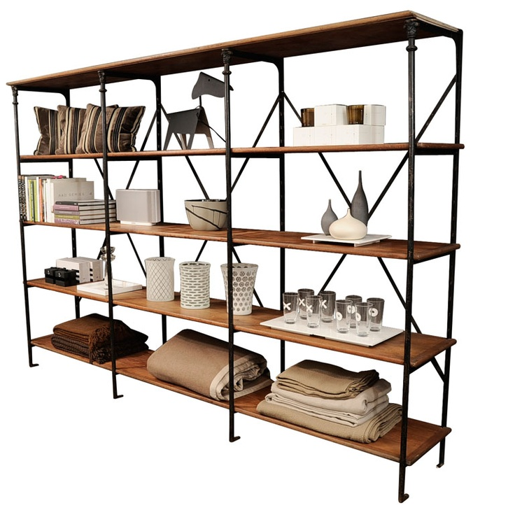 Industrial Open Shelving  France  late 19th century  Industrial fully restored shelving  Price  $13,200