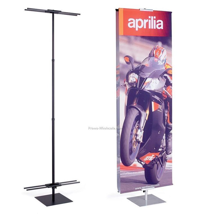 Banner And Stand Set - 3' X 8'