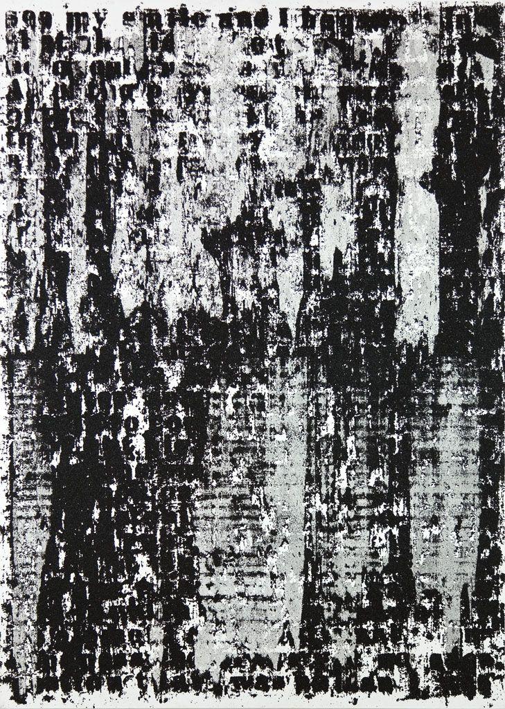 Glenn Ligon, Mirror #7, 2006. Acrylic, coal dust, silkscreen, gesso and oil stick on canvas 84 x 60 in. (213.4 x 152.4 cm).