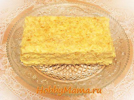 Рецепт торта из готового заварного крема и коржов