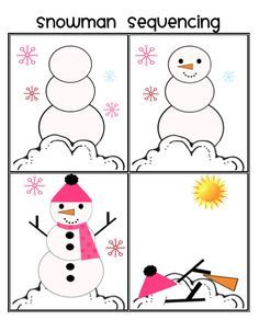 Snowman sequencing...part of winter unit. Repinned by SOS Inc. Resources.  Follow all our boards at http://pinterest.com/sostherapy  for therapy resources.