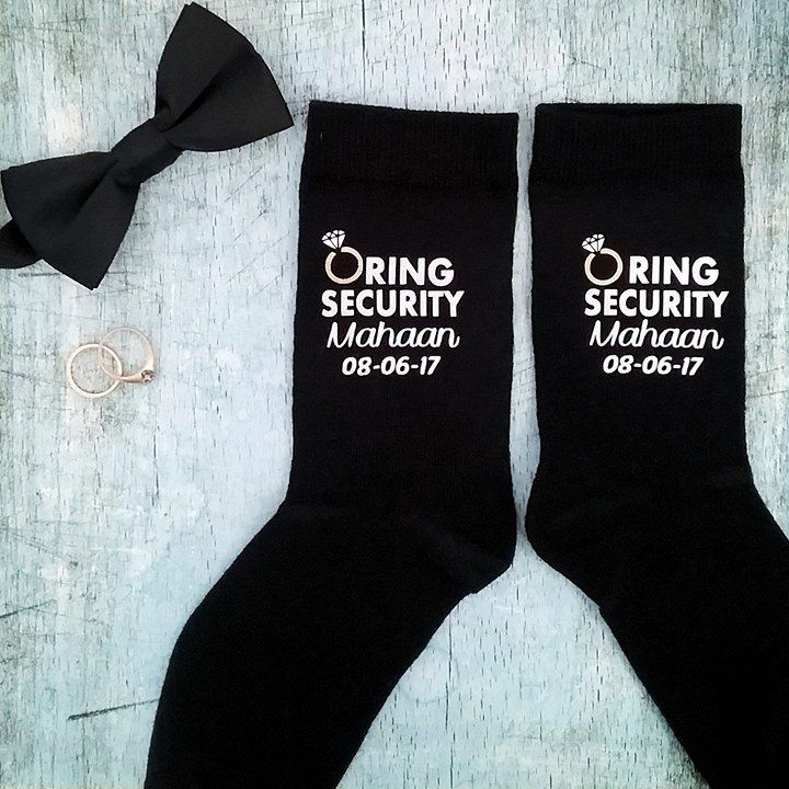 Ring Security Socks and Tie personalized