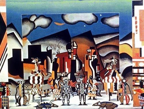 Fernand Leger Costume design 'La Creation du Monde