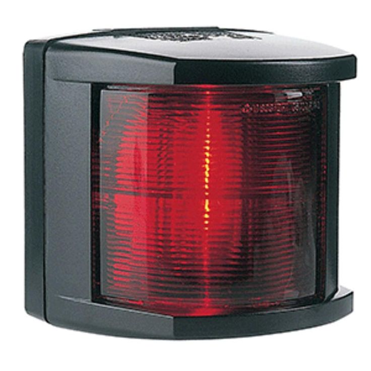 Hella Marine Port Navigation Light - Incandescent - 2nm - Black Housing - 12V