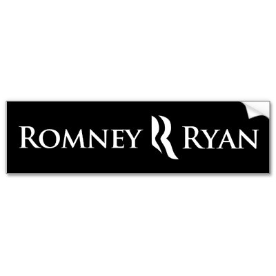 Romney ryan bumper sticker black