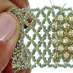Embellishing Netting from Fusion Beads. #seed #bead #tutorial