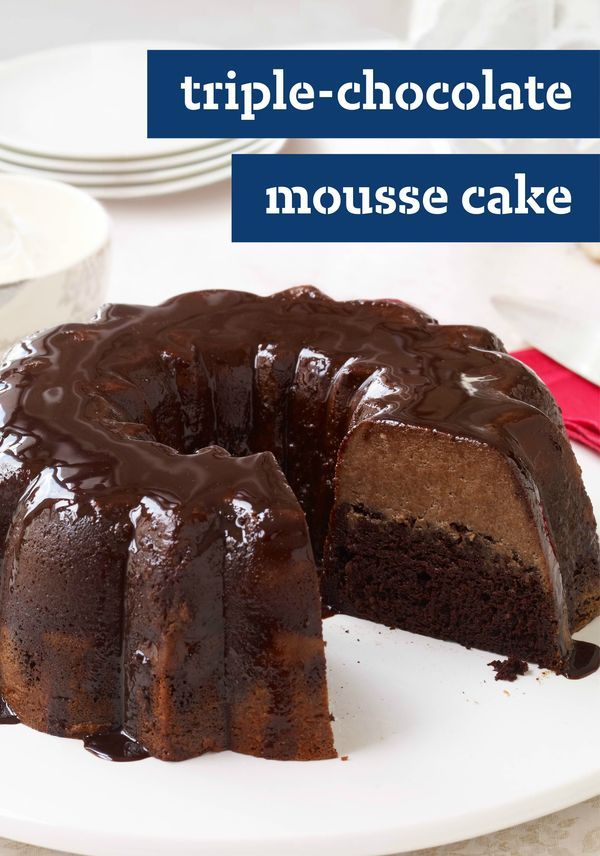 Triple-Chocolate Mousse Cake – Live the triple chocolate dream with this showstopping mousse cake recipe—sure to be a favorite dessert at your next get-together. Click here for the easy step-by-step instructions!