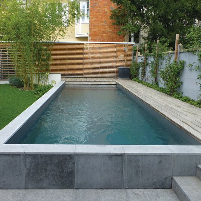 25 best ideas about piscine hors sol beton on pinterest for Piscine semi enterree beton