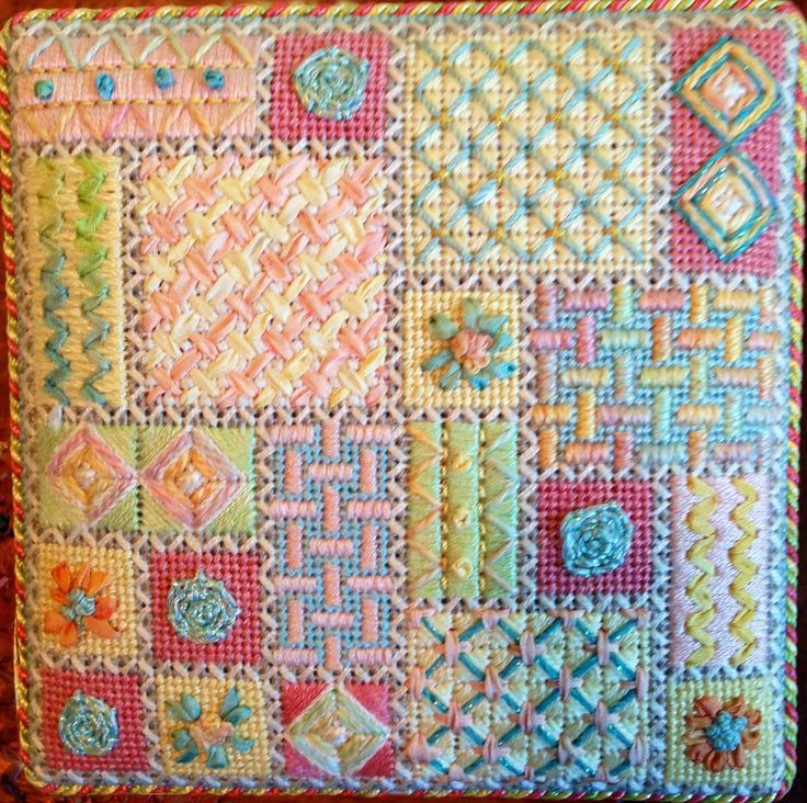 pastel needlework...Terry Dryden Needlework Designs - Sweet Treats