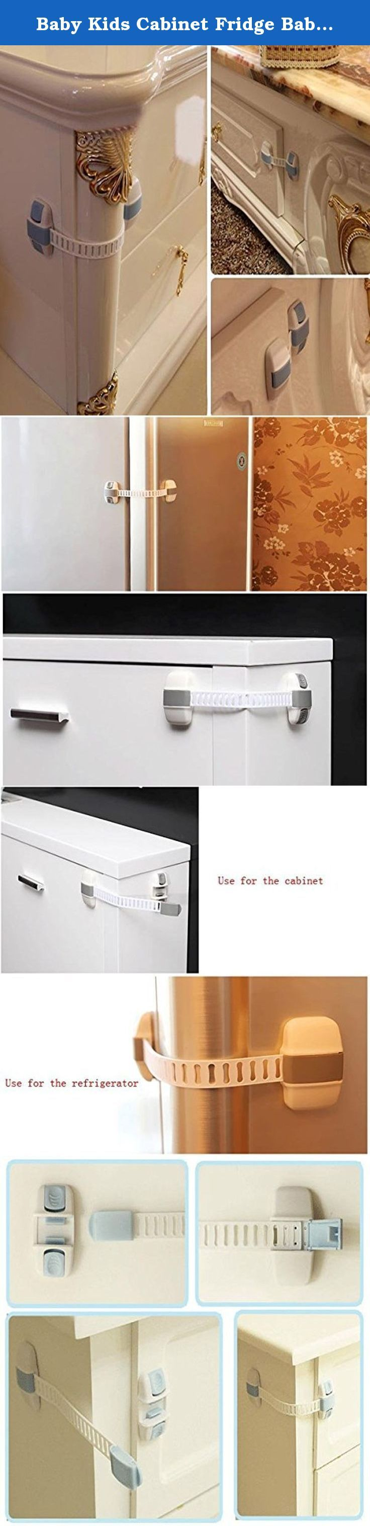 Baby Kids Cabinet Fridge Baby Security Sliding Door Drawer Straps Freezer Safety Wardrobe Cupboard Catch Lock. Description : Baby Kids Cabinet Fridge Baby Security Sliding Door Drawer Straps Freezer Safety Wardrobe Cupboard Catch Lock Used in the refrigerator, drawer, door switch, protecting children. But also protection of the refrigerator is not a waste of electricity. Door Lock to prevent children playing door for naughty and injuring fingers. Also open the medicine cabinet to prevent…