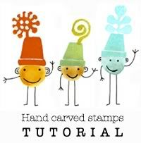 Hand Carved Stamps Tutorial by Genine