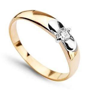 Pierścionek złoty ZEB0144 - Biżuteria Pandora. Pierścionki zaręczynowe - Sklep Fugart.pl