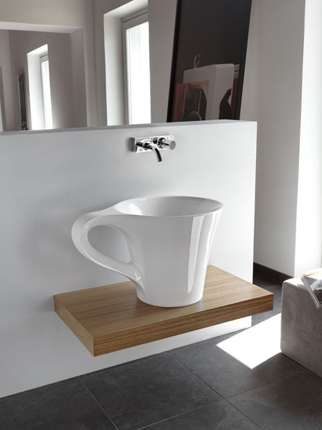 Art CeramOne Shot cup #washbasin - how awesome is this?