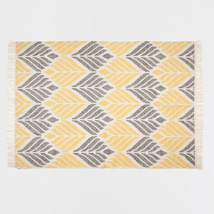 Rug with yellow and grey design - RUGS - DECORATION | Zara Home United States of America