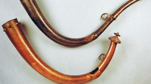 The ancient music and instruments of Ireland  Two Late Bronze Age Horns from Co. Antrim, 900-600 BC