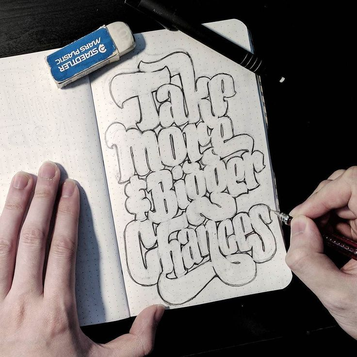 Big fat letters and advice from @dandrawnwords - #typegang - free fonts at typegang.com | typegang.com #typegang #typography