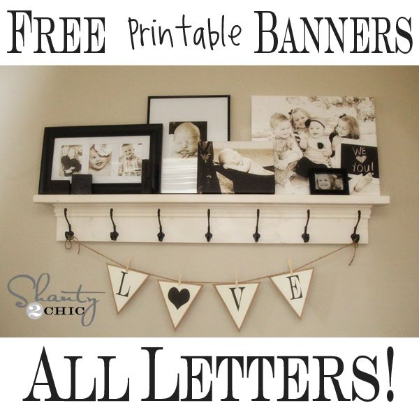 Free Printable Banner Letters and Shapes