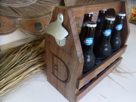 Beer Tote Personalized and Engraved with a bottle opener.  Pretty cool gift for my beer brewer!