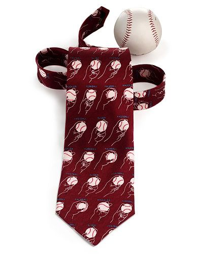 BASEBALL PITCHES TIE | Baseball Pitches Diagrams Tie by Josh Bach Makes Curveball Gift for Sports Fan | UncommonGoods