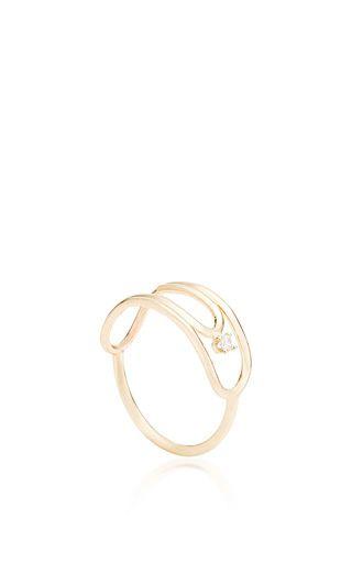 paperclip ring with diamond by LAUREN KLASSEN for Preorder on Moda Operandi
