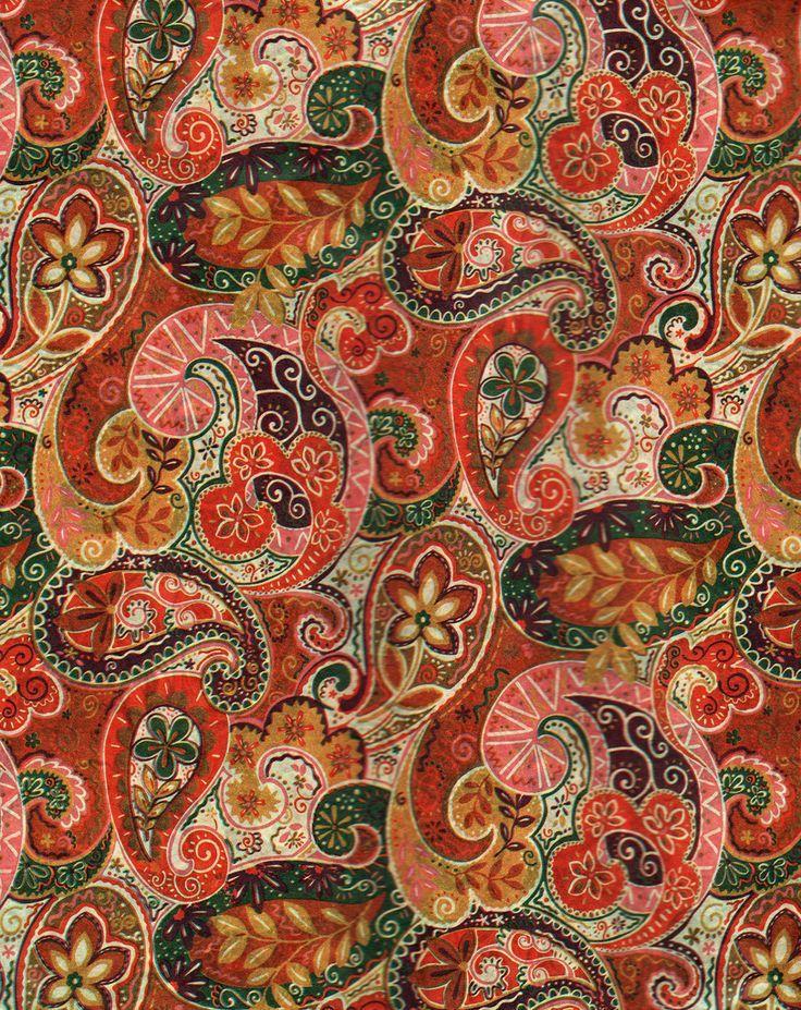Autumn Paisley Pattern