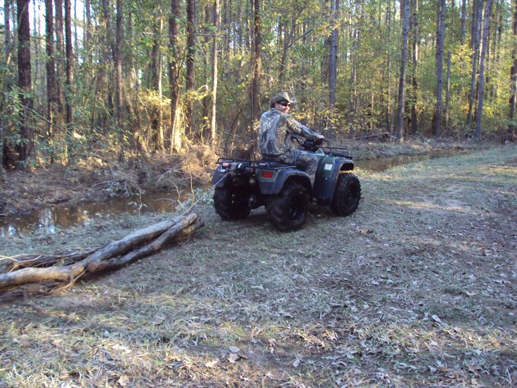 this shows how this atv has a lot of momentum to pull the