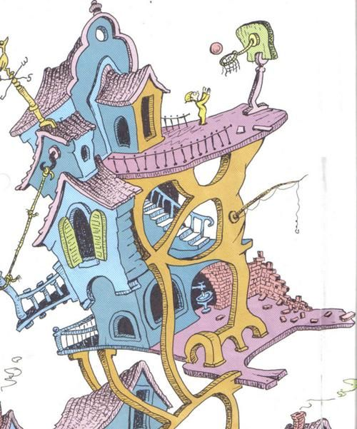 Dr. Seuss House #Illustration #House #Dr_Seuss #oh_the_Places_Youll_Go