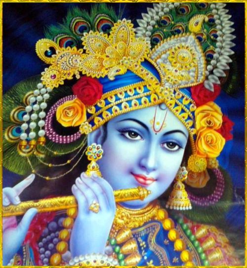 "SHRI KRISHNA ॐ Shri Krishna said: ""I am the goal, the sustainer, the master, the witness, the abode, the refuge, and the most dear friend. I am the creation and the annihilation, the basis of everything, the resting place and the eternal seed.""~Bhagavad Gita as it is 9.18 Read or listen to ""Bhagavad Gita as it is"" online: http://gitopanishad.com/"